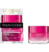 L'OREAL Paris Youth Code Texture Perfector Day/Night Cream Perfects Skin Qialty Refines Uneven Texture, Pors, Fine Lines