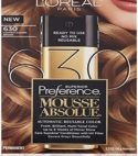 1 Loreal Superior Preference Mousse Absolue Permanent Dye 630 Light Golden Brown