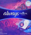 Always  radiant pantiliners 96 count