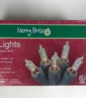 Merry Brite 100 Lights Clear Bulb Green Wire