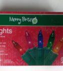 Merry Brite 100 Lights Multi bulb/green wire