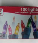 Merry Brite 100 lights multi color bulb/green wire