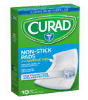 10 Non-Stick Pads with Adhesive Tabs